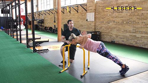 EQualizer Incline Push Ups with Trainer Insights