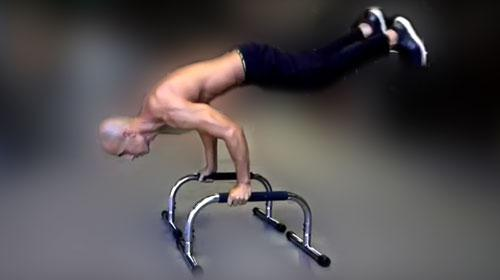 Frank Medrano Signature Series Chrome Parallettes™ by Lebert Fitness