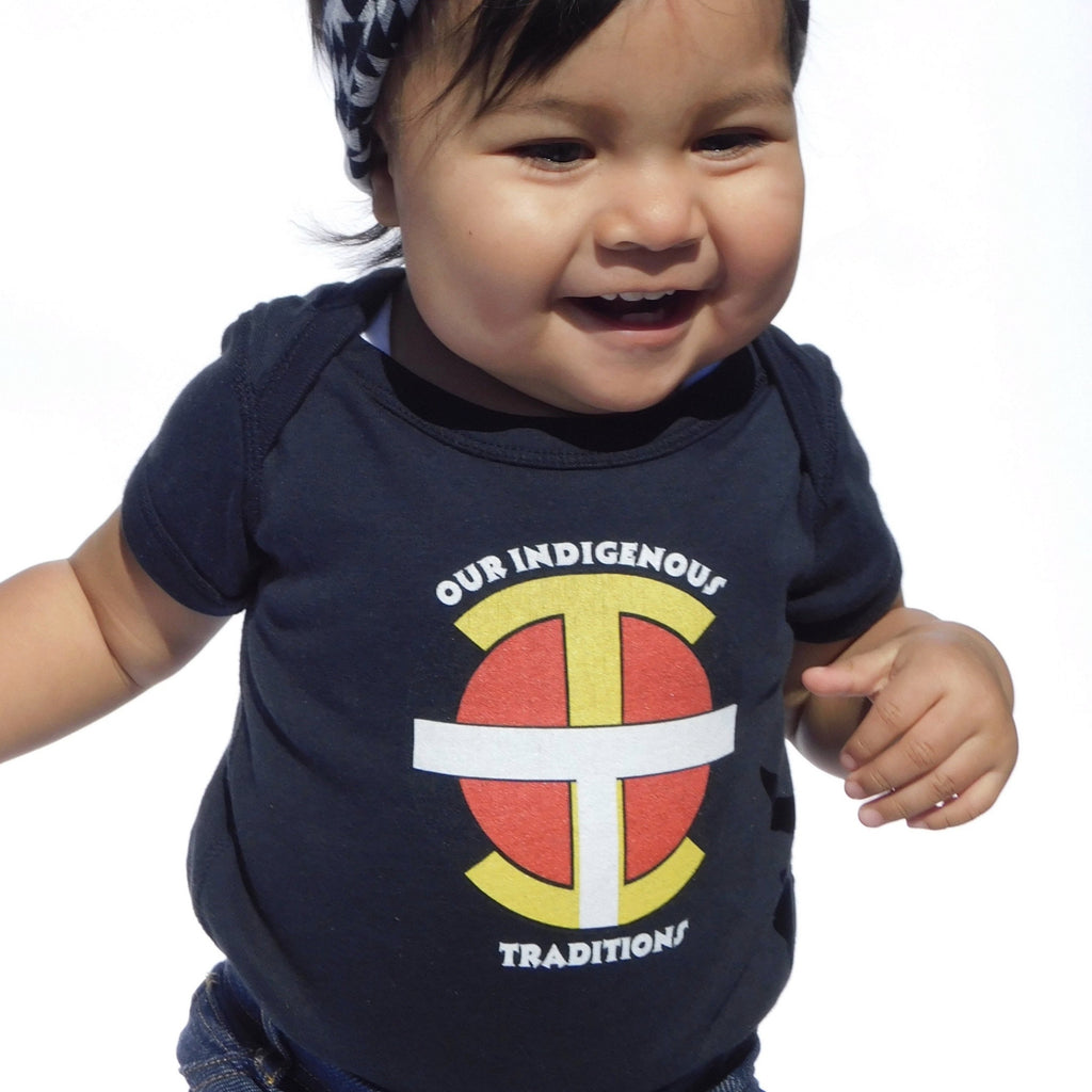 OIT Logo Baby Bodysuit - Our Indigenous Traditions
