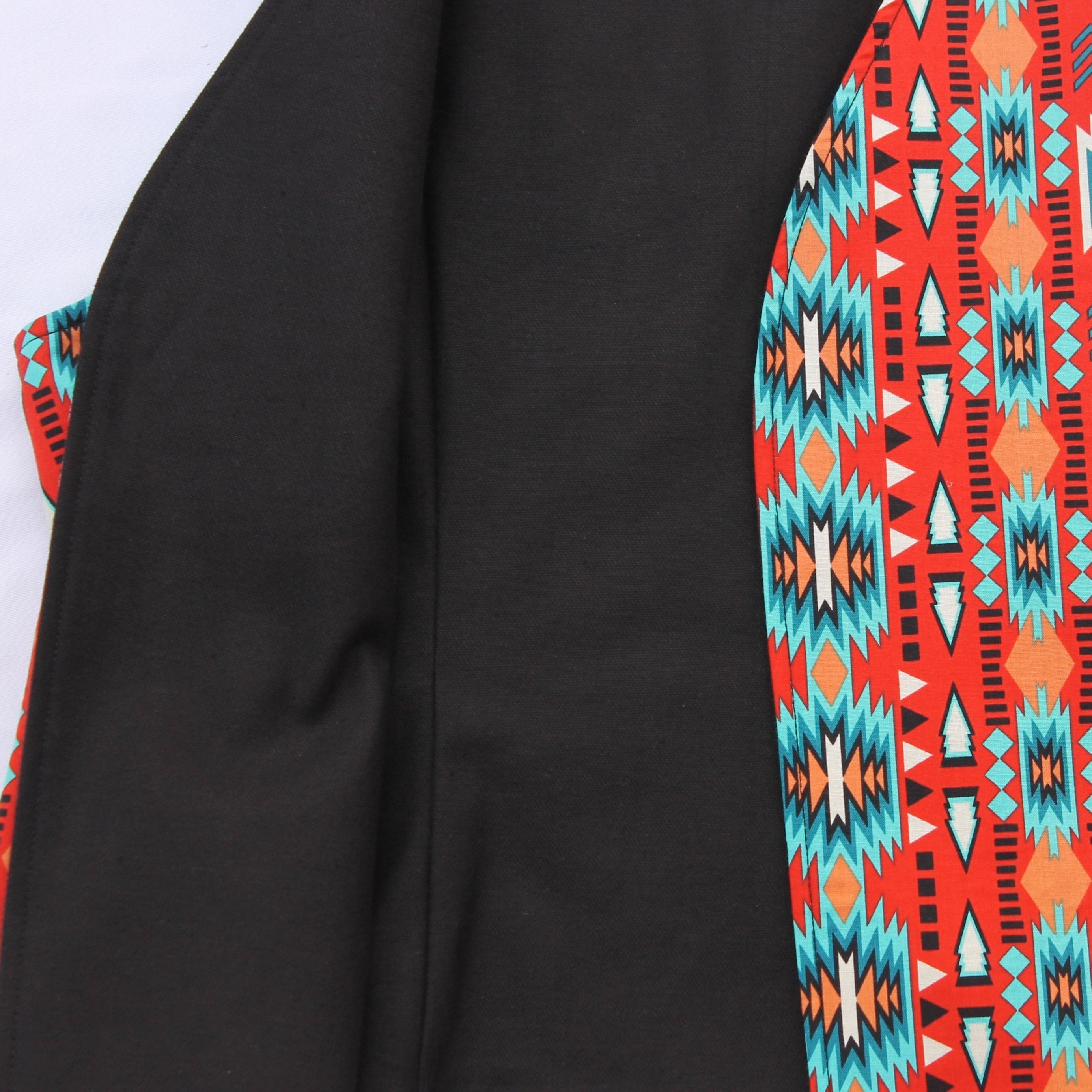 Youth Orange/Turquoise Vest - Our Indigenous Traditions