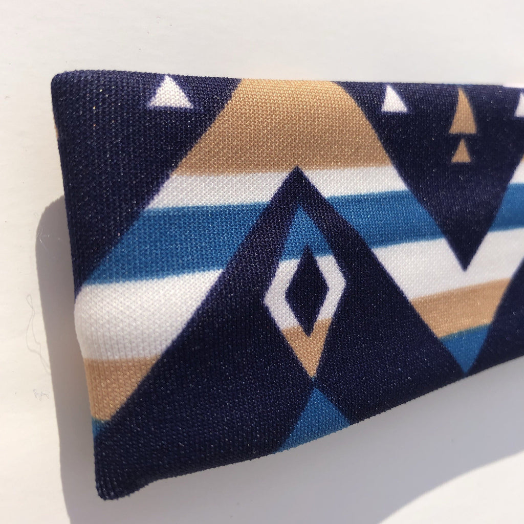 Blue and Tan Headband - Our Indigenous Traditions