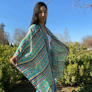 Stripped Baby Green Throw Overs throwovers accessories, clothing, comfortable, Cotton, fabric, Fall, Fashion, hand wash, Indian, Indigenous, indigenous unity, Native, native american, oit, Ou