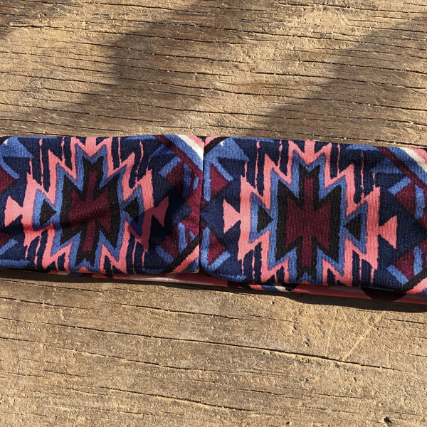 Pink Sunset Headband Headband accessories, comfortable, fabric, Fall, Fashion, hand wash, handmade, Headband, Indigenous, indigenous unity, Men, Native, oit, Our, Powwow, Style, Traditions, t