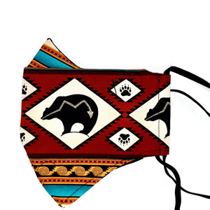 XL OIT Reusable Mask 2.0 mask Aboriginal, accessories, america, American Indian, black, business, clothing line, comfortable, family, Fashion, favorite, four Corners, four directions, gold, h