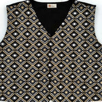 Youth Black/Tan Diamond Vest - Our Indigenous Traditions