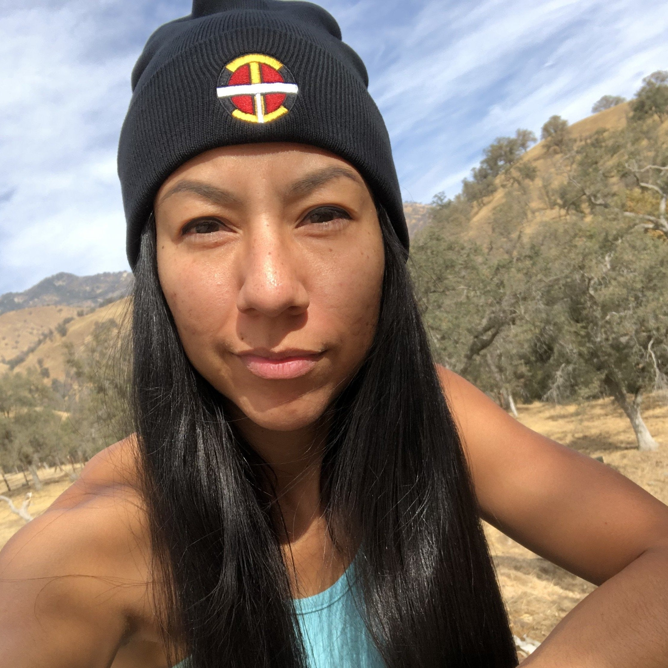 """OIT Logo"" Embroidered Beanie Head Gear beanie, cold, Fall, Fashion, head, headgear, Indian, Indigenous, logo, Native, oit, Our, Powwow, Traditions, winter - Our Indigenous Traditions Clo"