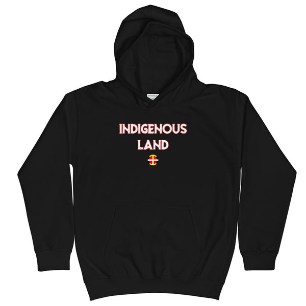 Kids Indigenous Land Hoodie  american indian, first nation, indigenous, indigenous land, land, native brand, rez, tribal, unity - Our Indigenous Traditions Clothing Brand