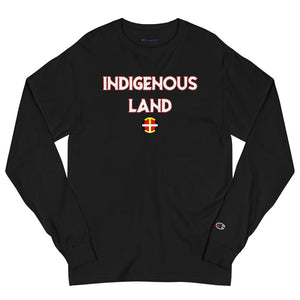 """Indigenous Land"" Men's Champion Long Sleeve Tee Champion Tee accessories, american, champion, clothing, comfort, comfortable, cotton, fabric, Fall, Fashion, fit, indian, Indigenous, indigeno"