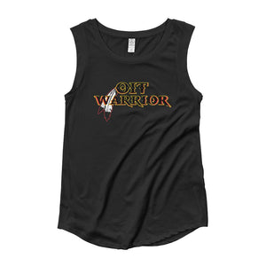 Ladies' OIT Warrior Cap Sleeve Tee OIT Warrior womens Tee Aboriginal, accessories, america, american, American Indian, black, clothing, comfort, comfortable, comfy, cool, cotton, fabric, Fa
