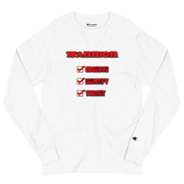 "OIT ""Observe, Identify, Target""  Men's Champion Long Sleeve Shirt  american, champion, clothing, cotton, fabric, indian, native, oit, our, traditions, tribe, warrior - Our Indigenous Traditio"