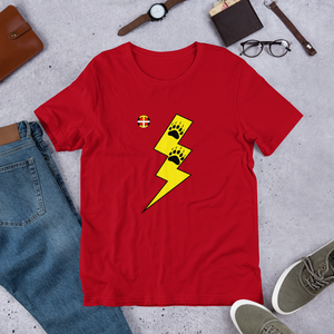 Y-Thunder Bear Paws Tee Y-Thunder Bear Paws Tee bear, comfortable, Cotton, Fall, Fashion, Indian, Indigenous, Men, Mens, Native, oit, Our, paws, Powwow, Shirt, Spring, Style, Throw over, top,