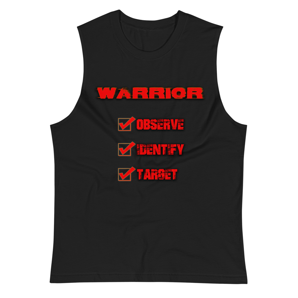 """Observe, Identify, Target"" Warrior Tank Tank Top Aboriginal, comfortable, Fall, Fashion, Indian, Indigenous, Native, native american, oit, Our, popular, Powwow, Spring, tradition, Tradit"