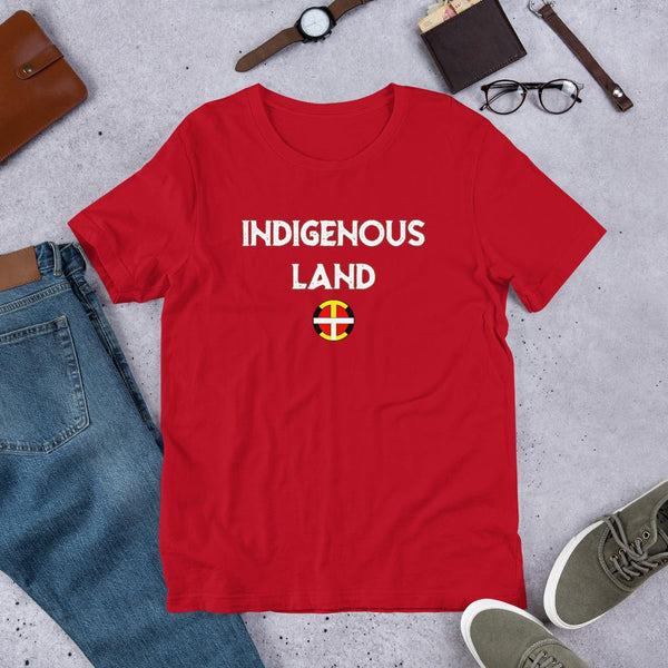 Indigenous Land Tee (W Print) T-Shirt america, black, canada, discount, Fashion, favorite, indian, indigenous, land, maga, native, native american, nativo, oit, oit warrior, oitclothing, our,