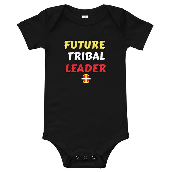 """Future Tribal Leader"" Baby Onesie Onesie childrens, clothing, indigenous, kids, leader, native, oit, spring, toddler, tribe - Our Indigenous Traditions Clothing Brand"