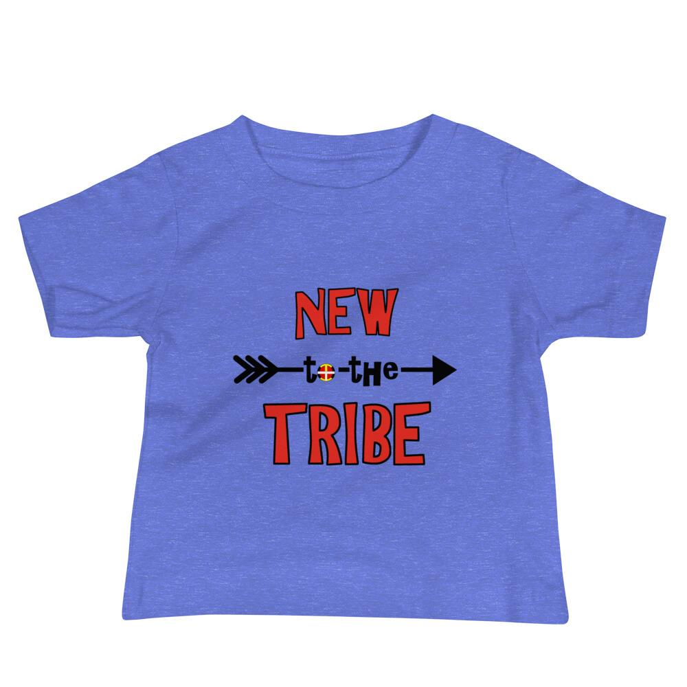 """New to the Tribe"" Red Baby Short Sleeve Tee"