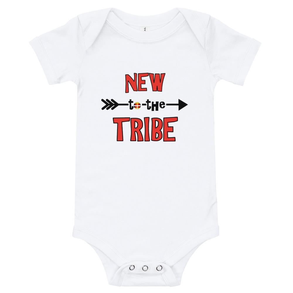 New to the Tribe Baby Bodysuit Red/Black - Our Indigenous Traditions