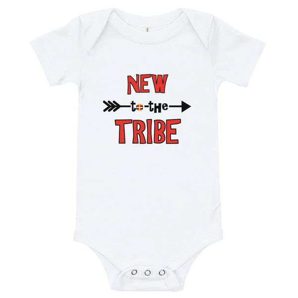New to the Tribe Baby Bodysuit Red/Black Kids & Babies Aboriginal, accessories, america, American Indian, baby, baby bodysuit 24 months, baby bodysuit 36 month, baby bodysuit jumpsuit, baby b