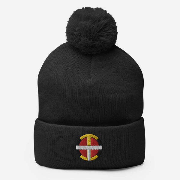 Pom-Pom OIT Beanie  aboriginal, beanie, clothing, cold, cold weather, hat, indigenous, indigenous brand, indigenous clothing, native, native american brand, native brand, oit, pom pom, season