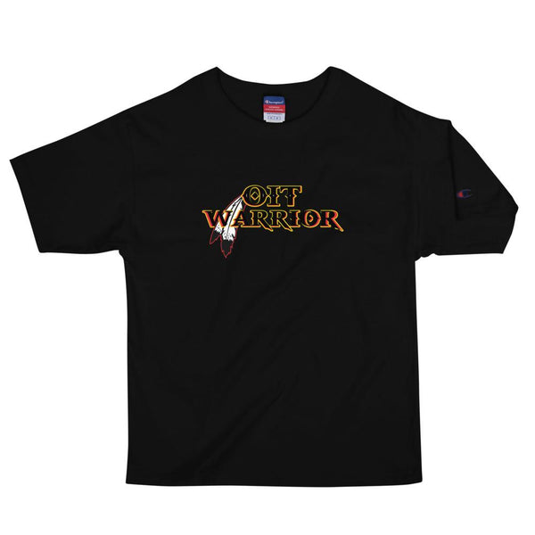 OIT Warrior Men's Champion Tee Tee Aboriginal, american, American Indian, black, champion, clothing line, comfortable, Cotton, fabric, Fall, Fashion, Fitness, gym, Indian, Indigenous, indigen
