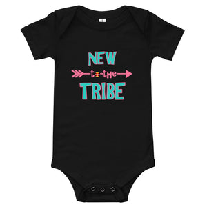 New to the Tribe Baby Bodysuit Turquoise/Pink Kids & Babies Aboriginal, accessories, america, American Indian, baby, baby bodysuit 24 months, baby bodysuit 36 month, baby bodysuit jumpsuit, b