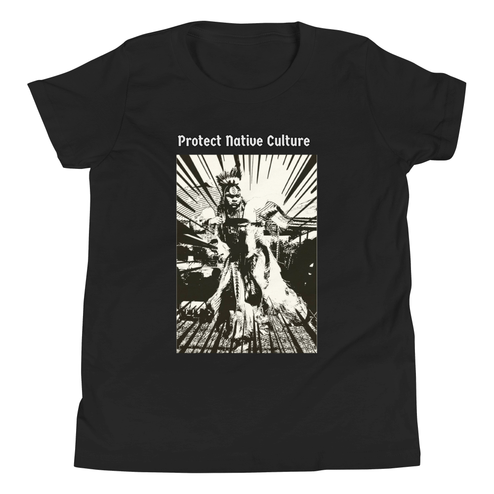 "Youth ""Protect Native Culture"" Tee Tee clothing, culture, dance, indigenous, native, oit, powwow, protect, tribe - Our Indigenous Traditions Clothing Brand"