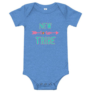 New to the Tribe Baby Bodysuit Turquoise/Pink