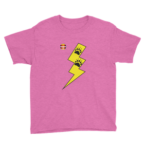 Youth Y-Thunder Bear Paws Tee Kids Tee bear, bear paws, comfortable, Cotton, Fall, Fashion, Indian, kids, kids shirt, Native, oit, Our, paw, paws, Powwow, school, Shirt, Spring, Style, summer