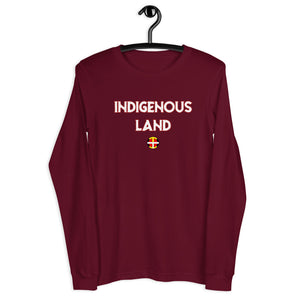 Womens Indigenous Land Long Sleeve Tee  american indian, first nation, indigenous, indigenous land, land, native brand, native pride, rez, tribal, unity - Our Indigenous Traditions Clothing B