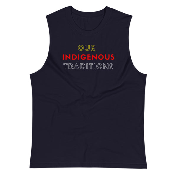 OIT Shadows-Sleeve Cut Tee Tank Top Aboriginal, american, American Indian, basketball, champion, clothing, clothing line, culture, cut top, exercise, fitness, gym, indigenous, muscle, native,