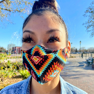 Black Mystical Reusable Mask 2.0 mask 2.0 Aboriginal, accessories, america, American Indian, black, business, clothing line, comfortable, family, Fashion, favorite, four Corners, four directi