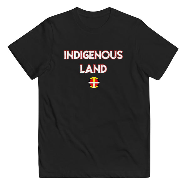 Youth Indigenous Land Tee (W Print)   - Our Indigenous Traditions Clothing Brand