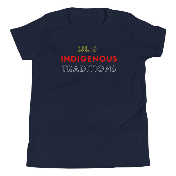 Youth OIT Shadows Tee  indigenous, kids, native, native brand, oit clothing, shadows, shirt, summer, tee, youth - Our Indigenous Traditions Clothing Brand