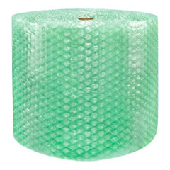 "Recycled Green Bubble Roll Padding Ship 1/2"" Thick x 24"" Wide Perf 12"" Large Bubbles"