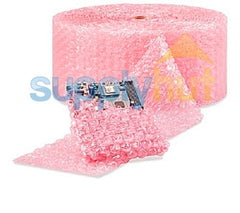 "Anti-Static Pink Bubble Roll Shipping 1/2"" x 12"" Wide Large Bubbles"