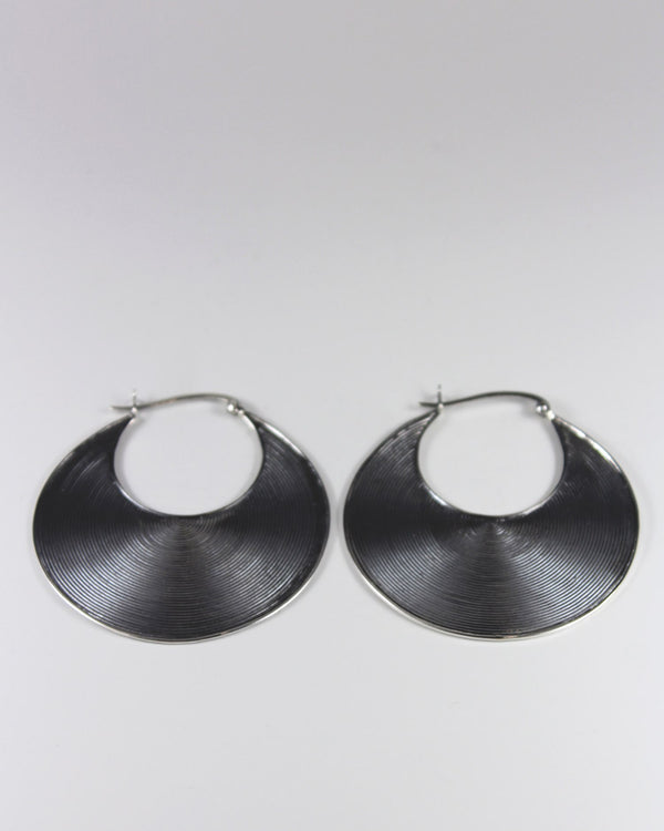 Silver Big Circle Earring