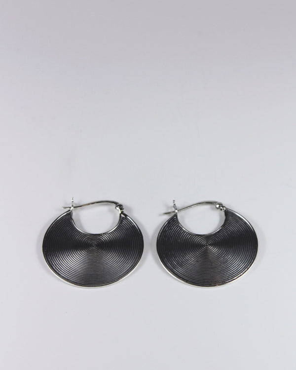 Silver Medium Circle Earring