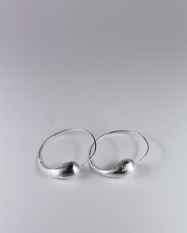 Silver Matt Drop Earring