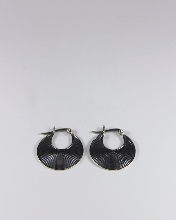 Silver Mini Circle Earring