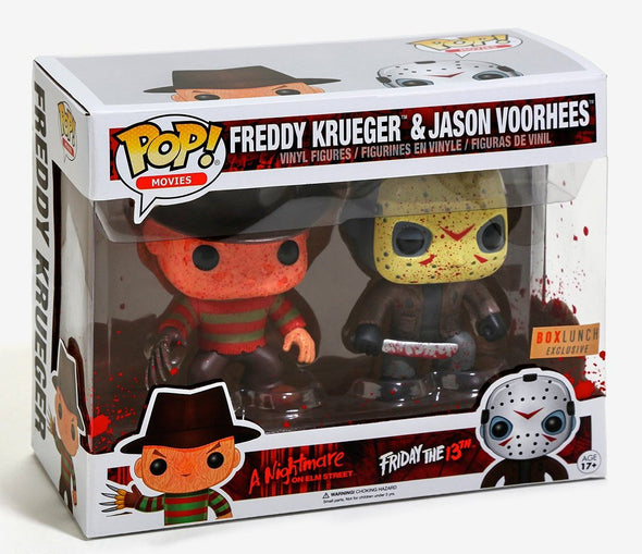 Horror - Freddy Krueger & Jason Voorhees Bloody Exclusive 2-Pack Pop! Vinyl Figures