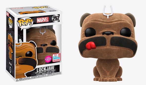 NYCC 2017 - Marvel Inhumans Flocked Lockjaw Exclusive Pop! Vinyl Figure