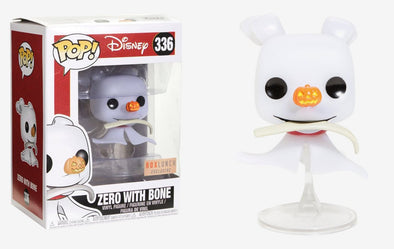 Disney Nightmare Before Christmas - Zero with Bone Exclusive Pop! Vinyl Figure