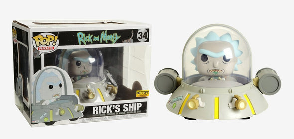 Rick and Morty - Rick's Ship Exclusive Pop! Ride Figure