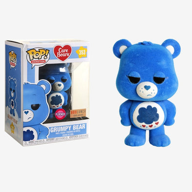Care Bears - Flocked Grumpy Bear Exclusive POP! Vinyl Figure