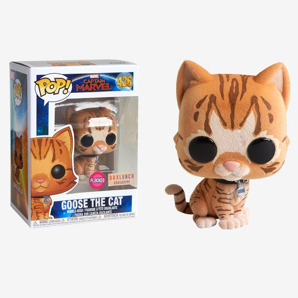 Captain Marvel - Goose The Cat Flocked Exclusive Pop! Vinyl Figure