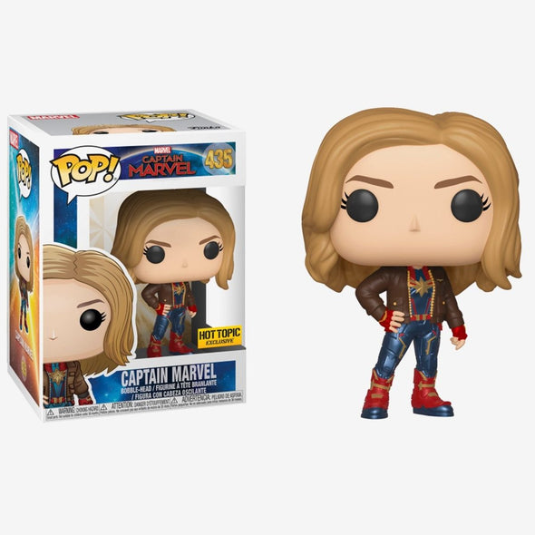 Captain Marvel - Captain Marvel (/w Jacket) Exclusive Pop! Vinyl Figure