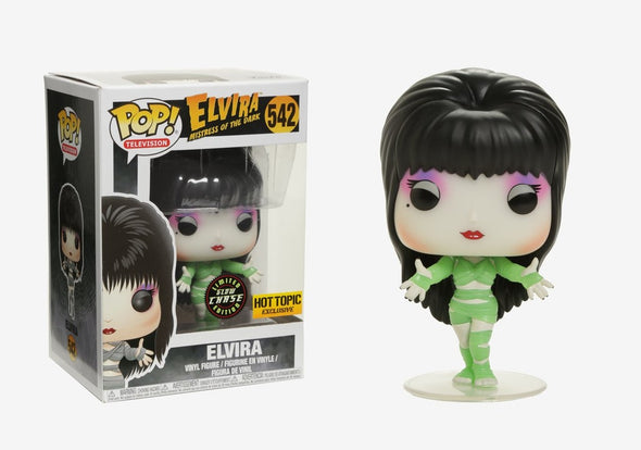 Elvira Mistress of the Dark - Elvira (Zombie) Glow-In-The-Dark Chase Pop! Vinyl Figure