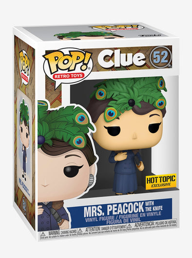 POP Retro Toys - CLUE Mrs. Peacock (/w The Knife) Exclusive Pop! Vinyl Figure