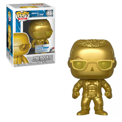WWE Smackdown Live - 20th Anniversary Gold The Rock Exclusive Pop! Vinyl Figure