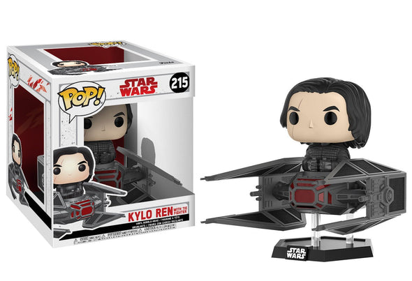 Star Wars - Kylo Ren with Tie Fighter Deluxe Pop Vinyl Bobble Head Figure