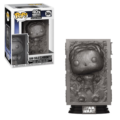 Star Wars - Empire Strikes Back 40th Han Solo in Carbonite Pop! Vinyl Figure